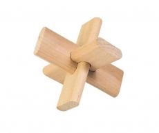 Knobelspiel Das Kreuz  im Baumwoll-Säckchen