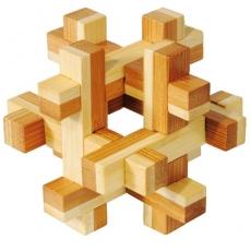 IQ-Test-Puzzle aus Bambus  Konstrukt ***