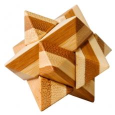 Bambus-Puzzle Stern **  in Metalldose