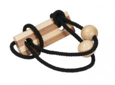Bambus-Puzzle Schwarz ****  in Metalldose