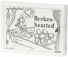 Mini-Holzpuzzle (englisch) Brokenhearted