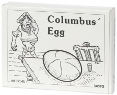 Mini-Holzpuzzle (englisch) Columbus Egg