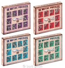 40x Metall-Knobelspiele - Metall-Puzzles in 4 Geschenkkartons