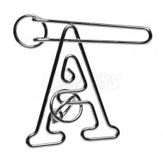 A-Puzzle - Metall-Knobelspiel - 11 cm