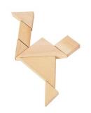 Knobelspiel Tangram  im Baumwoll-Säckchen