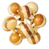 IQ-Test-Puzzle aus Bambus  Atom, zweifarbig ***