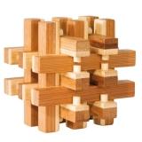 IQ-Test-Puzzle aus Bambus  Verschlossen **
