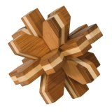 IQ-Test-Puzzle aus Bambus  Kristall ****