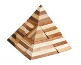 IQ-Test-Puzzle aus Bambus  Pyramide ***