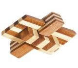 IQ-Test-Puzzle aus Bambus  Kettenknoten ***