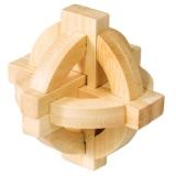 IQ-Test-Puzzle aus Bambus  Doppelte Scheibe ***
