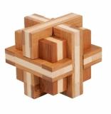IQ-Test-Puzzle aus Bambus  Doppelkreuz *****