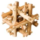 IQ-Test-Puzzle aus Bambus  Magic Sticks ****