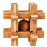 IQ-Test-Puzzle aus Bambus  Gitterbox **