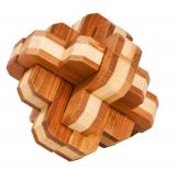 IQ-Test-Puzzle aus Bambus  Runder Knoten ***