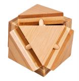 IQ-Test-Puzzle aus Bambus  Magische Dreiecksbox ****