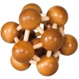 IQ-Test-Puzzle aus Bambus  Atom ***