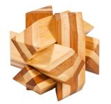 IQ-Test-Puzzle aus Bambus  Schräger Knoten ***