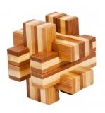 IQ-Test-Puzzle aus Bambus  Balken Konstrukt ***