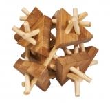 IQ-Test-Puzzle aus Bambus  Stäbe mit Dreiecken ***