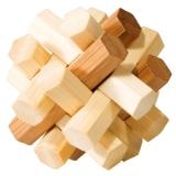IQ-Test-Puzzle aus Bambus  Doppelter Knoten ****