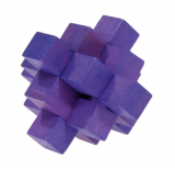 IQ-Test-Puzzle aus Bambus  Blockpuzzle violett ***