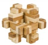 Bambus-Puzzle Konstrukt ***  in Metalldose