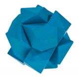 IQ-Test-Puzzle aus Bambus  Schräger Knoten blau ***
