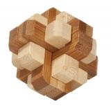Bambus-Puzzle Runder Knoten ****  in Metalldose