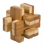 Bambus-Puzzle Doppelblock ***  in Metalldose