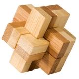 Bambus-Puzzle Block ***  in Metalldose