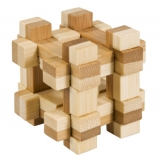 Bambus-Puzzle Gitterbox **  in Metalldose