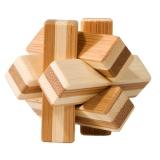 Bambus-Puzzle Knoten ***  in Metalldose