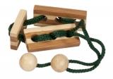 Bambus-Puzzle Grün ***  in Metalldose