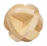 Bambus-Puzzle Drei Scheiben ***  in Metalldose