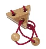 Bambus-Puzzle Rot ****  in Metalldose