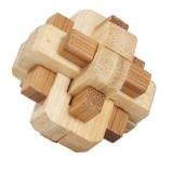 Bambus-Puzzle Mix Knoten *****  in Metalldose