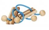 Bambus-Puzzle Blau **  in Metalldose