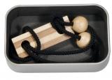 6x Bambus-Puzzle in Metalldosen Set 4 (schwarz-weiß)