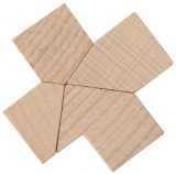 Mini-Holzpuzzle (englisch) The Crusaders Key