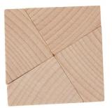 Mini-Holzpuzzle (englisch) Leonardos Square