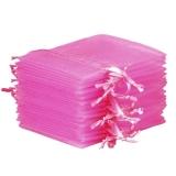 10x Organza-Säckchen  9x12 cm - pink