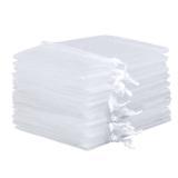 10x Organza-Säckchen  9x12 cm - weiß