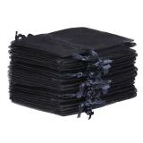10x Organza-Säckchen  9x12 cm - schwarz