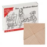 Mini-Holzpuzzle  Das Quadrat-Rätsel