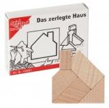 Mini-Holzpuzzle  Das zerlegte Haus