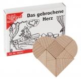 Mini-Holzpuzzle  Das gebrochene Herz