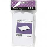 10x Faltschachteln - Kissenschachteln - 10 x 8 x 2 cm - weiß