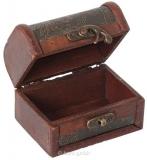 Rustikale Mini-Truhe - 10 cm - befüllt mit 6 Minis