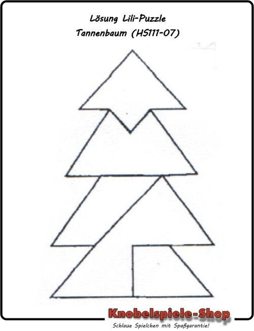 Tannenbaum Puzzle.Lösung Lili Puzzle Holzpuzzle Tannenbaum